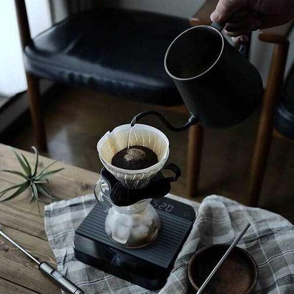 приготовление кофе в пуровере Hario