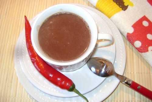 горячий шоколад из какао с перцем