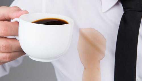 Как вывести пятно от кофе на одежде