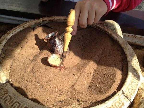 Особенности приготовления кофе на песке