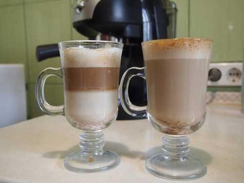 кофе латте и кофе латте макиато в домашних условиях
