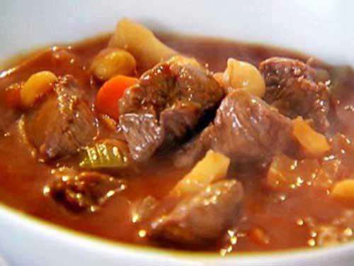 Жаркое из говядины под кофейным соусом