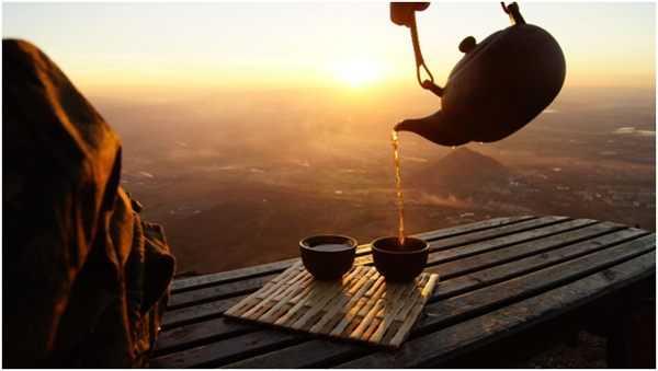 чаепитие на горе