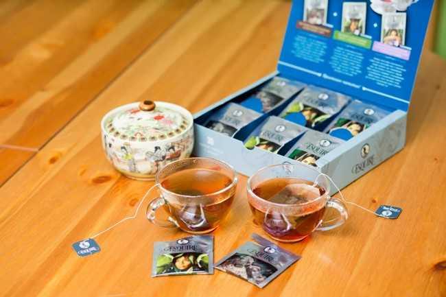 чай и коробка для чая