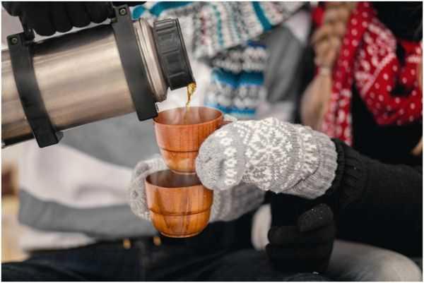 чай из термоса зимой