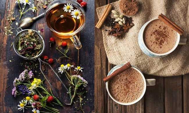 чай из трав и кофе