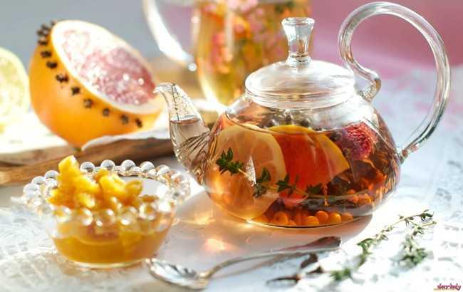 чай с фруктами