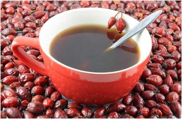 чай с плодами шиповника