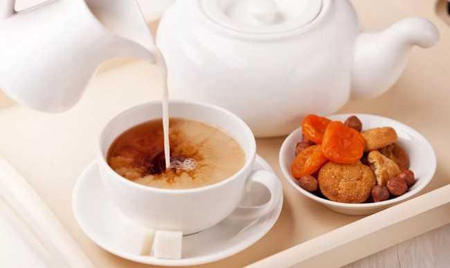 чай со сливками
