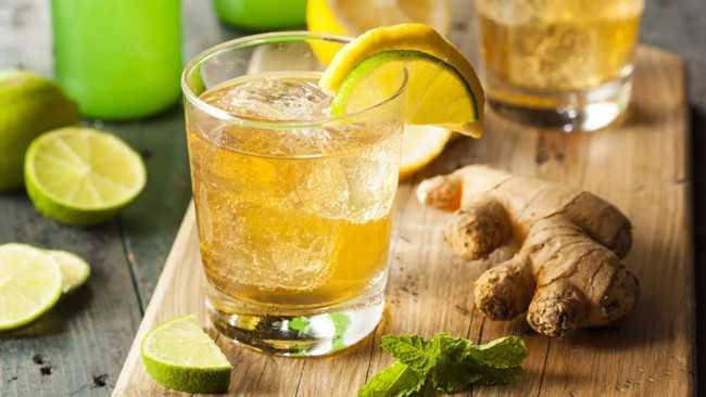 холодный чай с имбирем и мятой
