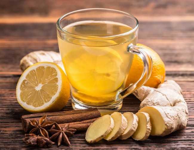 имбирный чай с корицей и лимоном