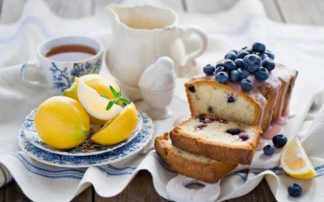 кекс с чаем