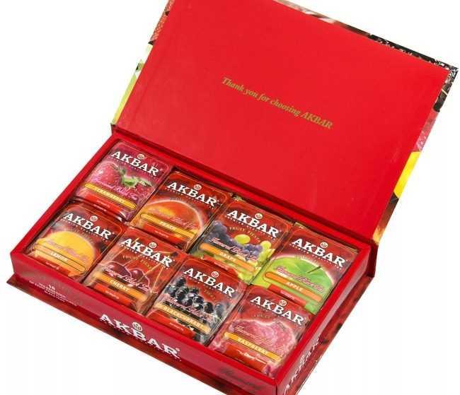 коробка фруктового чая