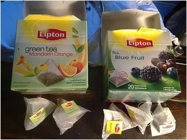липтон с ягодами и фруктами