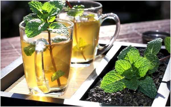 мятный чай в стаканах