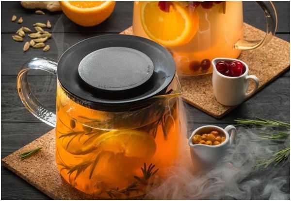 облепиховый чай с розмарином и лимоном