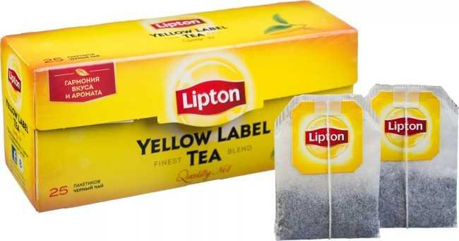 пачка чая липтон