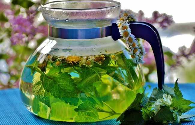 травяной чай в заварнике