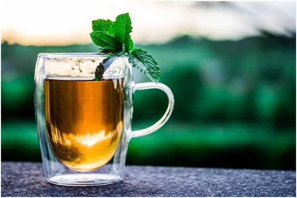 успокаивающий мятный чай