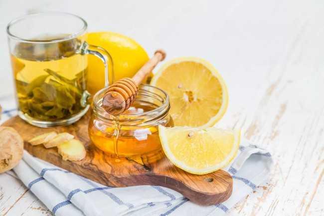 зеленый чай с медом лимоном и имбирем