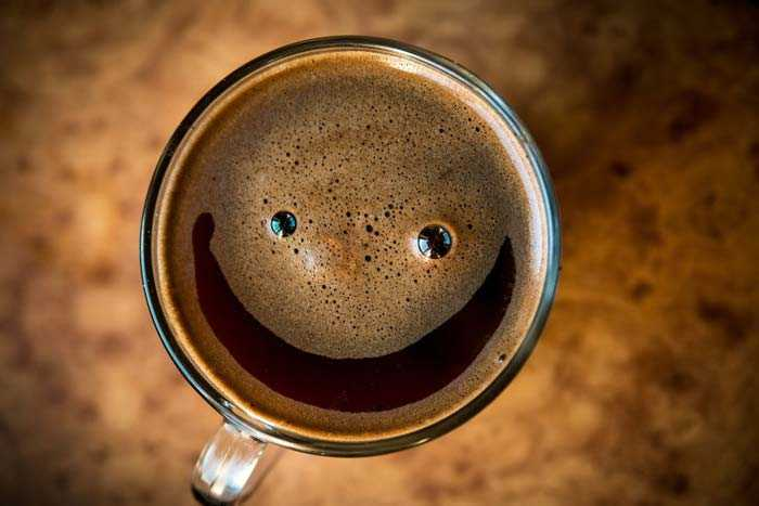 улыбка на кофе