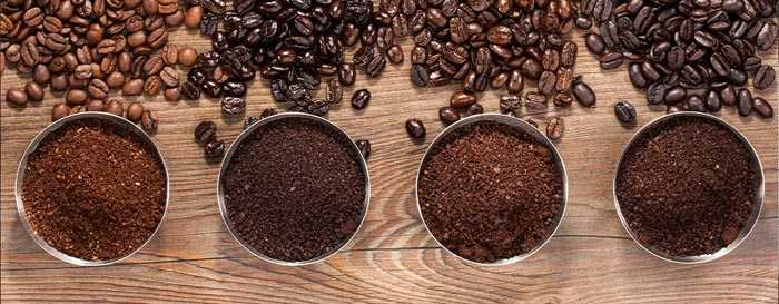 4 сорта кофе