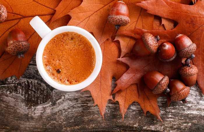кофе и желуди
