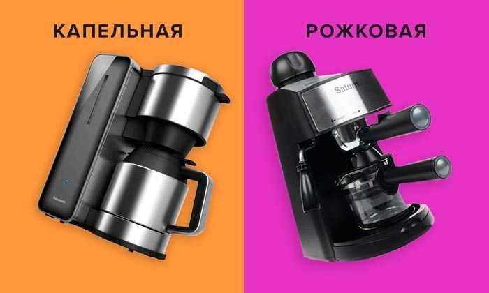 капельная и рожковая кофеварка