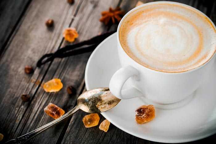 кофе с медом и ванилью