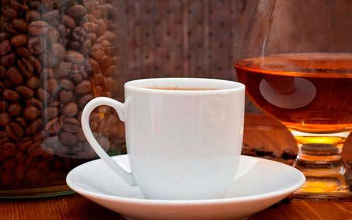 кофе с бренди