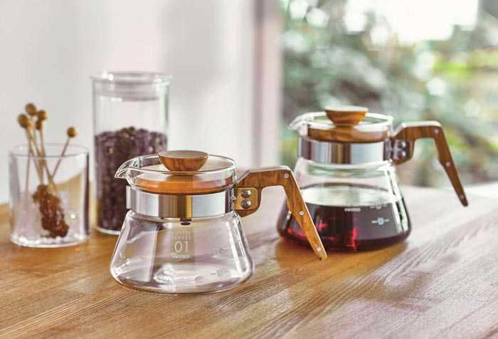 стеклянный кофейник