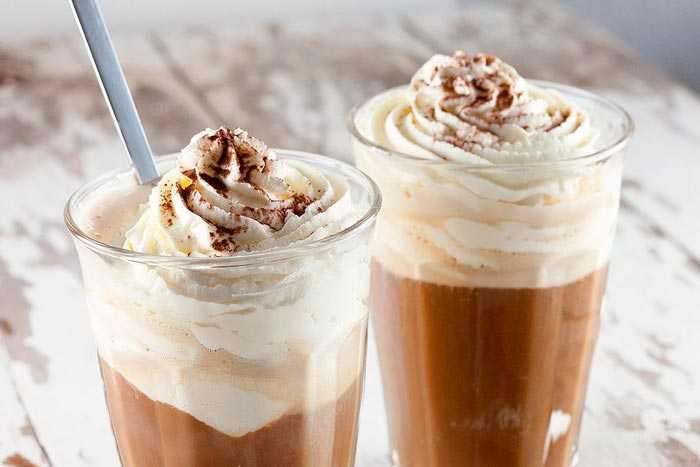 крем кофе со льдом