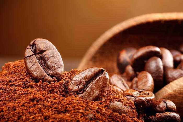 молотые зерна кофе