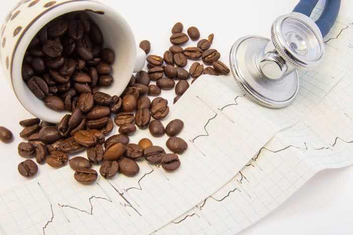 кофе на кардиограмме