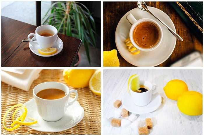 нарезка лимона для кофе