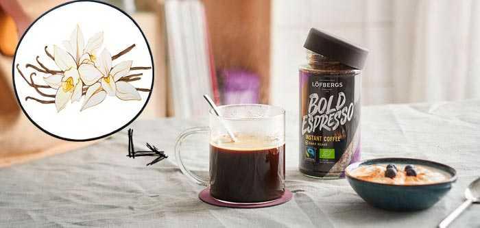растворимый кофе с ванилью